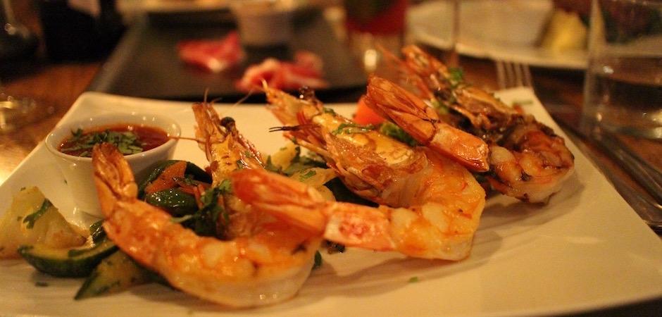 crevettes créoles grillées - Voyage foodie à Saint Barth