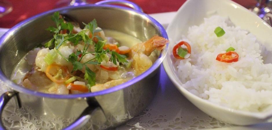 crevettes lait de coco - Voyage foodie à Saint Barth