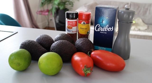 ingrédients Sorbet à l'avocat - Guacamole glacé