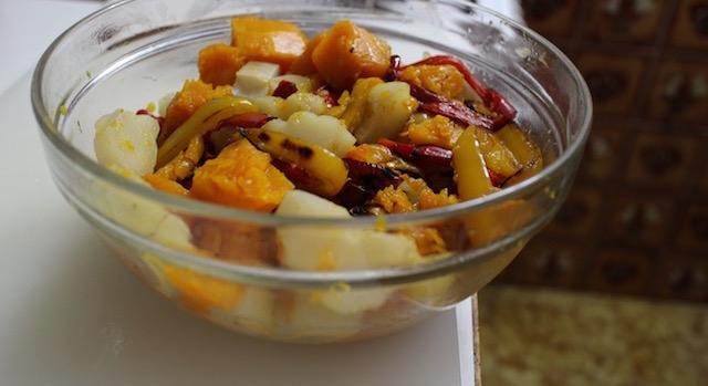 mélanger les légumes - Saint Barth - salade créole