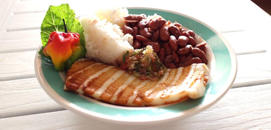 steak de calamar créole - Voyage foodie à Saint Barth
