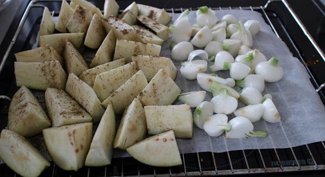 cuisson-aubergines-et-oignons-assiette-bien-etre-healthy-bowl-equilibre