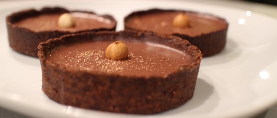 dessert maison - tartelette-noisette-chocolat-au-lait
