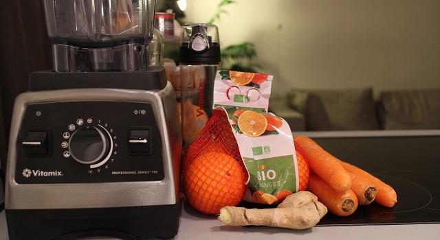 ingrédients Smoothie carotte orange gingembre