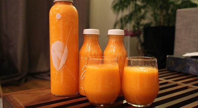 servir le Smoothie carotte orange gingembre