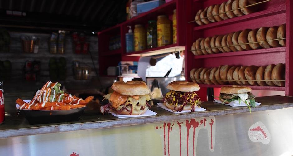bagel burger - Camden street food market - London