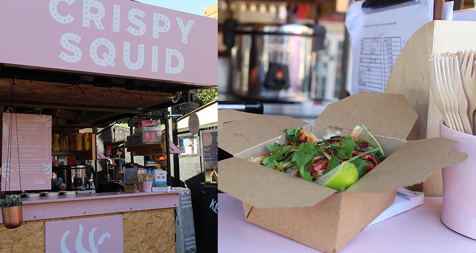 crispy squid - Camden street food market - London