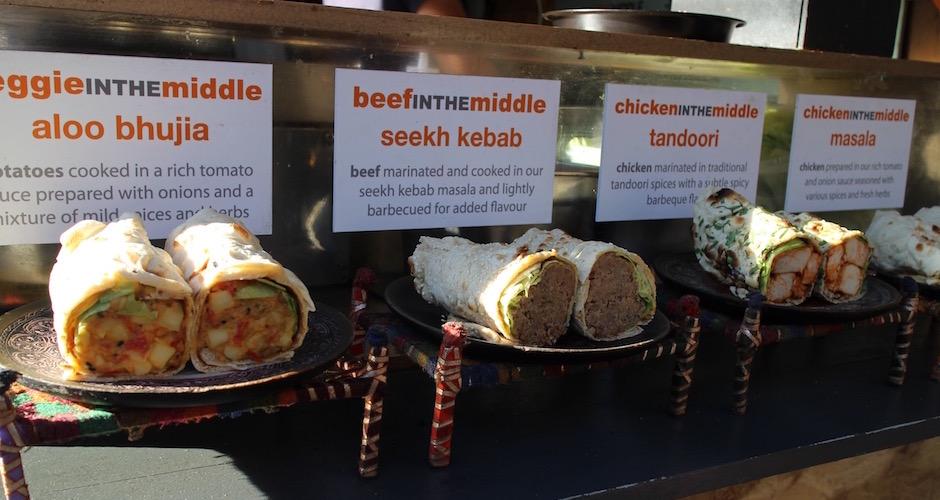 kebab roll - Camden street food market - London