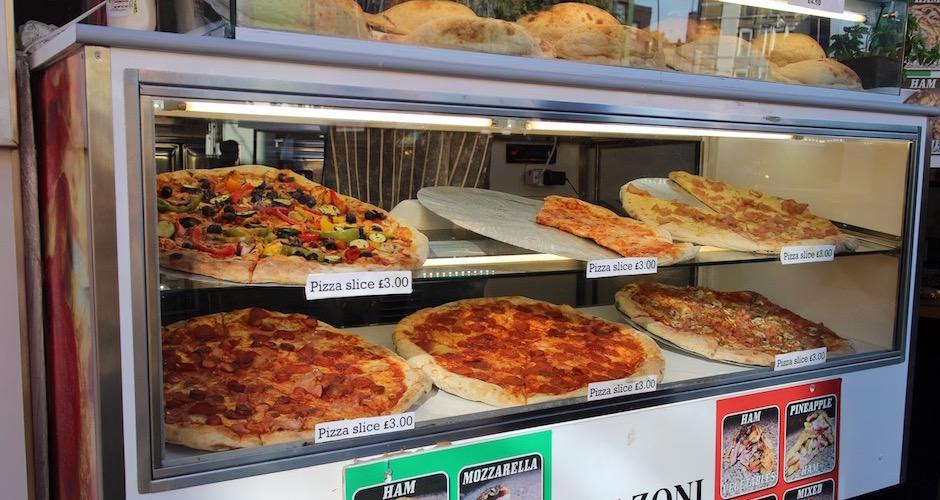 pizza - Camden street food market - London