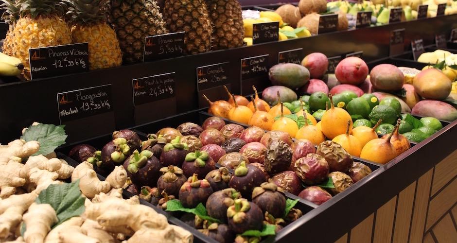 fruits exotiques - Visite guidée des halles de Lyon Paul Bocuse