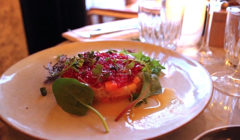 ceviche de lieu jaune - Restaurant Les fauves - exotic chic à Montparnasse
