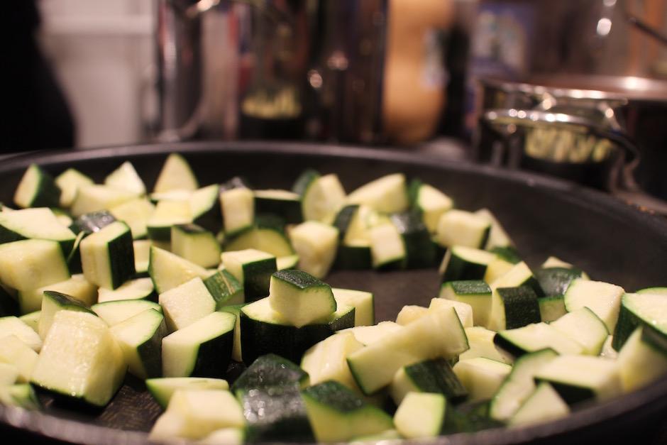 cuisson des courgettes - Soirée Pasta La Vista Baby