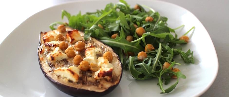 entrée originale tahini sésame - Veggie aubergine gourmande.