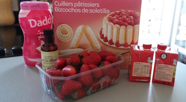 ingrédients - Fraises chantilly à l'italienne