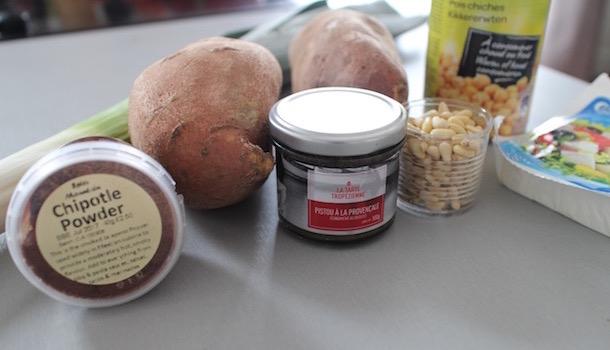 ingrédients - Sexy Patate douce rôtie