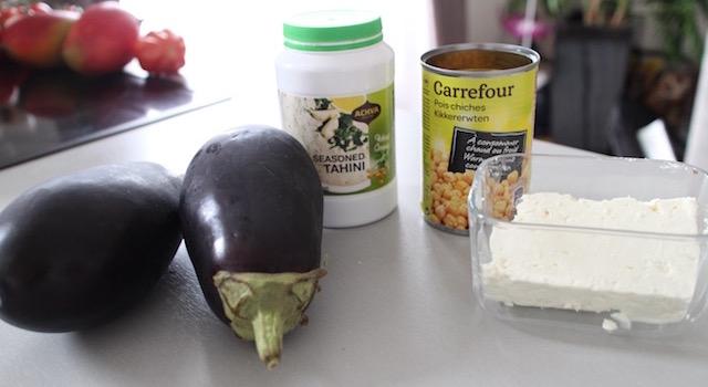 ingredients - Veggie aubergine gourmande