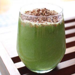recette Smoothie vert de légumes au sarrasin croustillant