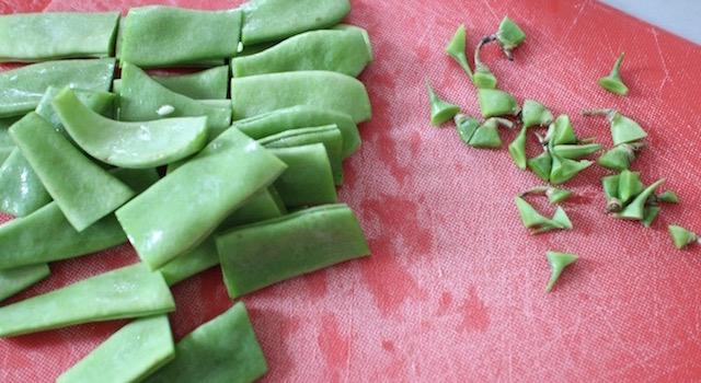 haricots plats - Légumes verts en salade