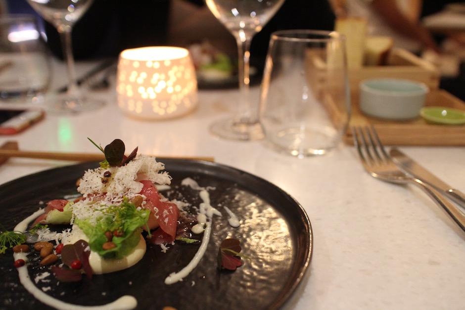 carpaccio de veau - Restaurant ERH - la gastronomie française vibre sous l'inspiration japonaise