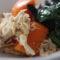 épices de sainte lucie - Courge - épinards - poulet caribéens