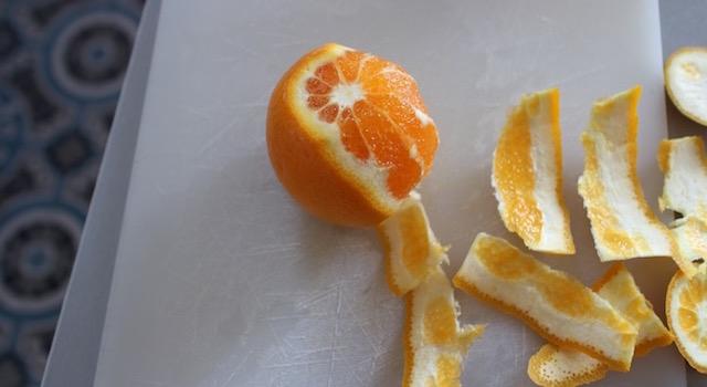 couper des supremes d'oranges - Salade Fresh Minimaliste