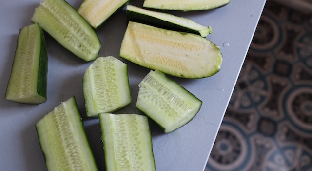 courgette concombre - Salade Fresh Minimaliste