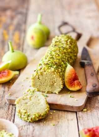 fromage végétal sans lactose - Bûche à la purée de pistache & noix de cajou