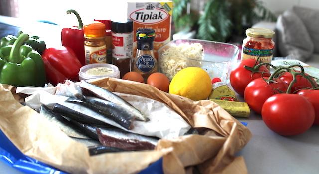 ingrédients boulettes de sardines
